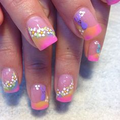 Click the pic to see all the Sally Hansen Spring Break #TripleShine mani's - Enter your team to win cash prizes and goodies! #nailpolish #nailart #contest #nails #beauty