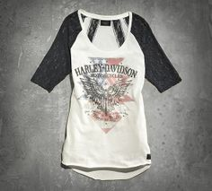Women's Lace Detail Tee | Tees | Official Harley-Davidson Online Store