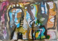 Máscaras Lupercio Dibujo - Acuarela Acuarela sobre papel 35 x 50 cms. S/f. $ 19, 000.00 M.N.  Vida a través del arte Exposición Colectiva Multidisciplinaria Proyecto Nómada de Galería Arte en Línea En  el Centro Cultural San Ángel Del 5 al 31 de Mayo de 2016   #arte #art #pintura #painting #escultura #sculpture #acuarela #watercolor#arteobjeto #objectart #grafica #graphic #dibujo #drawing #artemexico#mexicanart #artelatinoamericano #latinameeicanart #color #vida #life#vidaatravesdelarte
