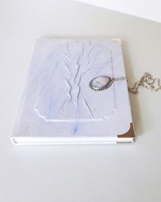 Leather Journal A5 Diary Art Notebook with Azure by AnnaKisArt