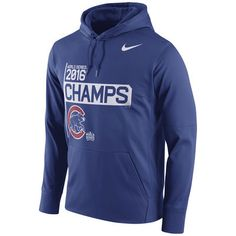 Chicago Cubs Nike 2016 World Series Champions Celebration Performance Hoodie - Royal