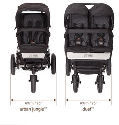 duet buggy side by side with a single buggy