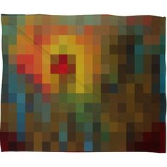 DENY Designs Madart Inc. Glorious Colors Fleece Throw Blanket
