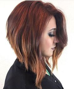 Superb Angled Bob Red Hairstyles 2018 for An Attractive Look