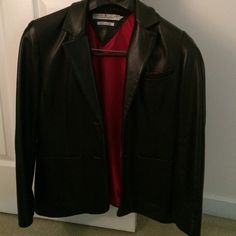 Vintage Tommy Hilfiger Leather Jacket Soft and smooth vintage black leather jacket by Tommy Hilfiger made for Bloomingdales. Looks great with jeans for a dinner out or with dress pants at work. Tommy Hilfiger Jackets & Coats Blazers