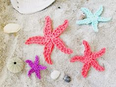 Starfish Crochet Pattern by Flower Girl Cottage ༺✿ƬⱤღ  https://www.pinterest.com/teretegui/✿༻
