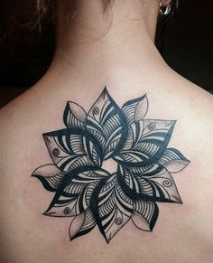 Geometric Flower designed & tattoo'd by Angelo...