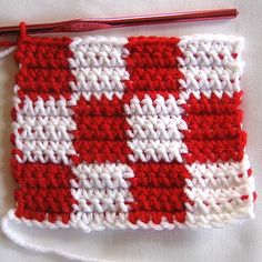 The classic checkerboard crochet stitch pattern. This has a free PDF download at the bottom of the page.