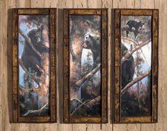 Bear Triptych by Marilyn Mason