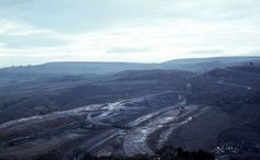 Work on the section of the M62 between Saddleworth and Outlane, 1970