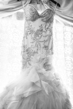 Breathtaking! The beading and embroidery on this Mark Zunino gown is stunning.