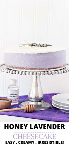 This honey lavender cheesecake has the most amazing flavor and is very easy to make. It's also got the best creamy texture. You will definitely be going back for a second piece! Easy Gluten Free Desserts, Homemade Desserts, No Bake Desserts, Easy Desserts, Dessert Recipes, Tart Recipes, Baking Recipes, Pancakes And Waffles, Fall Baking