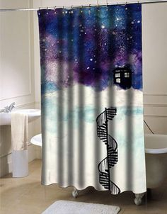 Tardis Doctor Who Shower curtain