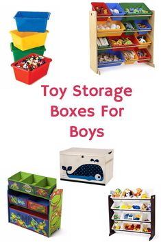 Toy Storage Boxes For Boys - Great way to get the toy room organized