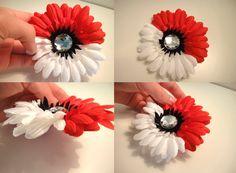Poke'ball (Poke'mon Trainer Cosplay) Flower Hair Clip. $7.00, via Etsy. - instead of boutineers?