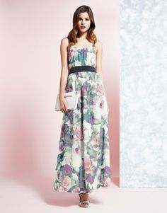 Uttam Boutique Cherry Blossom Print Maxi Dress