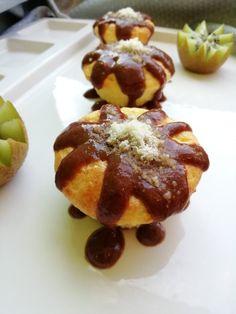 Papanasi pufosi la cuptor - Super Mom, French Toast, Breakfast, Food, Sweets, Banana, Morning Coffee, Essen, Meals