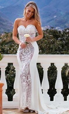 Sofia is gorgeous! A stunning fitted wedding dress with a sweetheart neckline. Beautiful embroided lace on a soft tulle down the centre of the dress. This gorgeous Sofia dress by Galina Couture is exclusively available at Luella's Bridal.