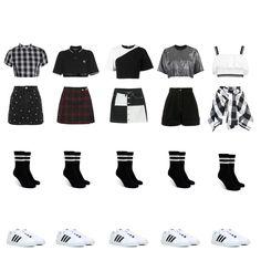Korean Outfits Kpop, Kpop Fashion Outfits, Stage Outfits, Dance Outfits, Stylish Outfits, Cute Outfits, Ootd Fashion, Mode Kpop, Korean Girl Fashion