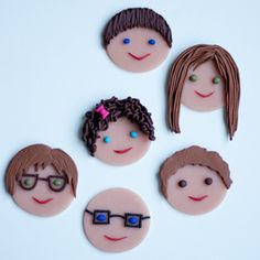 Use polymer clay to create your favorite faces!