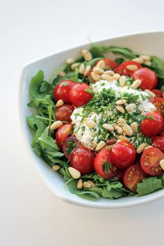 Cottage Cheese, Cherry Tomatoes and Rocket by Salad Pride, via Flickr