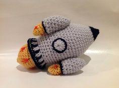 Rocket Starship #amigurumi www.badhedgie.com