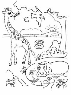 Printable worksheets for kids Connect the dots for Preschoolers 107 Animal Worksheets, Preschool Worksheets, Printable Worksheets, Zoo Coloring Pages, Coloring For Kids, In The Zoo, Connect The Dots, African Animals, Exercise For Kids