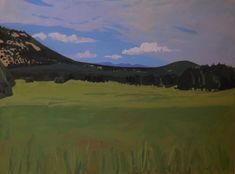 Landscape paintings by Shelley Hull. Landscape Paintings, Mountains, Canvas, Amazing, Nature, Travel, Artists, Image, Tela