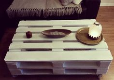 Table basse blanche on pinterest coffee tables table basse design and tabl - Table basse recuperation ...