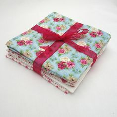 Fabric Coaster Set of 6 Shabby Chic Roses £9.95 from Adien Crafts