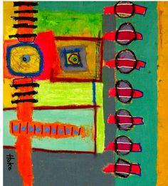 Hoke, Art Brut Art Informel, Vivid Colors, Colours, Library Images, Art Archive, Naive Art, Outsider Art, Acrylic Paintings, Deco