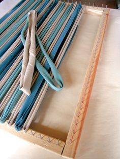 Try This: Handmade RugYou can find Handmade rugs and more on our website.Try This: Handmade Rug Rug Loom, Loom Weaving, Tapetes Diy, Rag Rug Diy, Braided Rag Rugs, Homemade Rugs, Rag Rug Tutorial, Fabric Rug, Scrap Fabric
