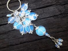 Beautiful Keychain and Great Gift Idea. Iridescent Beaded Keychain by TheCraftRoomStore on Etsy, $20.00