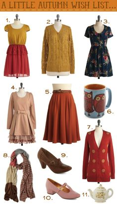 Miss Indie, fall fashion must haves.     Also a beautiful blog.
