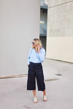 Adenorah in Black Culottes | Street Style