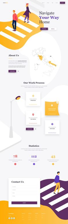 finance web design YourWay - Landing Page by Outcrowd Web Layout, Sites Layout, Website Design Layout, Layout Design, Cool Web Design, Creative Web Design, Web Design Trends, App Design, Flat Design
