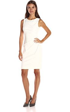 735bd2ce2abdc Calvin Klein Women s Sleeveless Scuba Starburst Sheath Dress