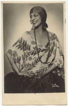 La Argentina (née Antonia Mercé y Luque)    by Madame d'Ora (Dora Philippine Kallmus)  matte bromide postcard print, circa 1925