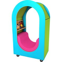 Incube Mobile Reading Den can be moved around your space to suit and is compatible with all our Wiggle shelving products for a distinct and flexible library. Reading Den, Your Space, Shelving, Nursery, Childcare, Suit, Hacks, Bedroom, Board