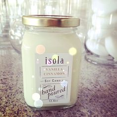 This is a magical scent for the winter season. Once you have tried our soy candles, you won't ever want another candle. #itsjustdifferent #soycandle #vanillacandle #cinnamon #tistheseason #winter #candles #soyisbetter #handpoured #smallbusiness #isola #isolabody #naturalskincare #homespa #vegan #crueltyfree #vanillacinnamon #aromas #aromatherapy #naturalscents
