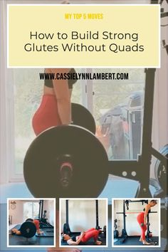 If you are quad dominant or have a desire to grow your glutes WITHOUT adding more size to your quads then exercise selection is critical. Weight Lifting Tips, Weight Training, Gain Muscle, Build Muscle, Hip Workout, Workouts, You Fitness, Fitness Tips, Bulk Up