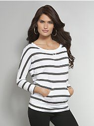 Striped Tee with Pouch Pocket