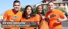 Mark your calendars! New Miner Convocation is Sunday, August 24.