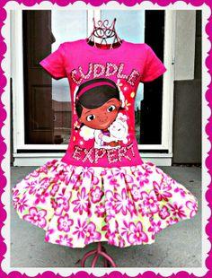 girls Doc McStuffins twirl party Dress by BlossomBlueBoutique, $34.99