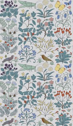 WALL paper for Ethan's bathroom?.:Trustworth - Apothecary's Garden:.