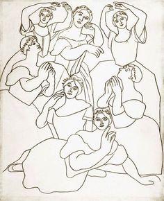 Pablo Picasso - Seven Dancers, 1919
