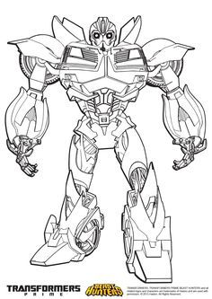 Bumblebee Transformers Prime Coloring Pages Sheets Adult
