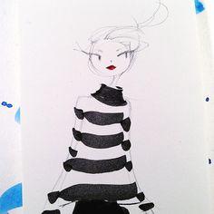Stripy warmup sketch. #stripes #sketch #sweaterweather #Pental