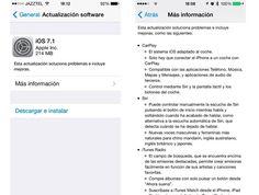 iOS 7.1 ya esta disponible