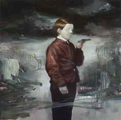 Detrás de los borrones, las máscaras y de una teatralidad especial en cada cuadro se encuentra el artista noruego Lars Elling.                     — LARS ELLING